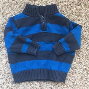 12m boys navy and blue striped sweater.